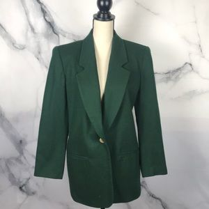 Requirements Petite Green wool over size blazer